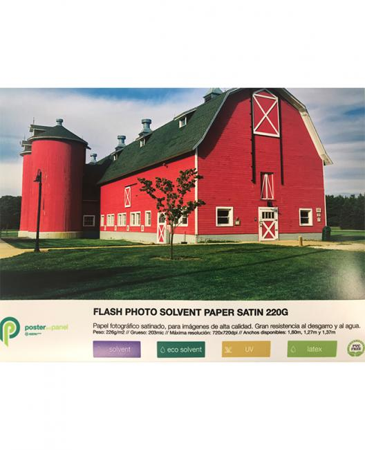 Flash photo solvent paper satin 220g